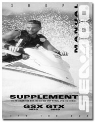 1996 seadoo gsx (5620), gtx (5640) shop/service manual supplement