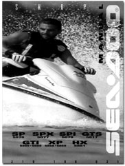 seadoo sp spi spx gti gts hx xp service shop manual 1996 seadoo sp 5876 spi 5878 spx 5877 gti 5855 5856 gts 5817 hx 5881 xp 5858 5859 service shop manual