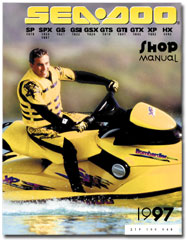 1997 seadoo sp (5879), spx (5834,5661), gs (5621), gsi (5622), gsx (5624),  gts (5818), gti (5641), gtx (5642), xp (5662), hx (5882) service/shop manual