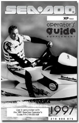 1997 SeaDoo XP (5662) Operators Guide Supplement