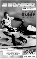 1998 SeaDoo GSX Limited (5625) Operator's Guide