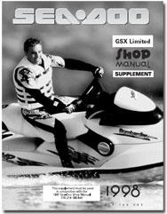 1998 SeaDoo GSX Limited Service/Shop Manual Supplement