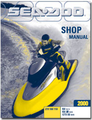 2000 seadoo rx rx di gtx di service shop manual free pdf download rh seadoomanuals net 2003 Sea-Doo GTI Manual 2003 Sea-Doo GTX Supercharged Specs