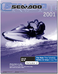 2001 SeaDoo Flat Rate Time Schedule