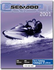 2001 SeaDoo GTI, GTS Parts Catalog