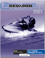 2001 SeaDoo RX DI Parts Catalog