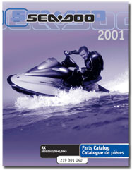 2001 SeaDoo RX Parts Catalog
