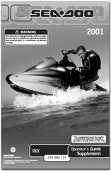 2001 SeaDoo RX X Operator's Guide
