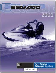 2001 SeaDoo RX X Parts Catalog
