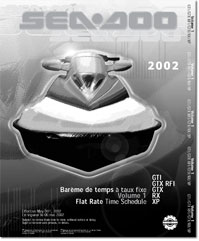 2002 SeaDoo Flat Rate Time Schedule