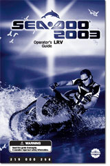 2003 seadoo lrv operator s guide free pdf download Owner's Manual Service Manuals