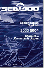 2000-2004 SeaDoo Specifications Booklet